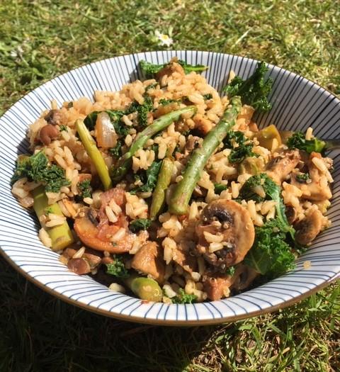 Veggie-lovers risotto